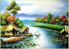 Cảnh thu trong bài Câu cá mùa thu được tác giả miêu tả như thế nào?